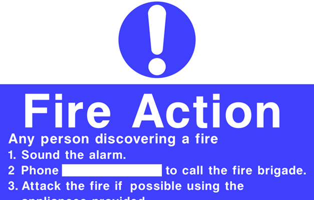 fire signs - fire action